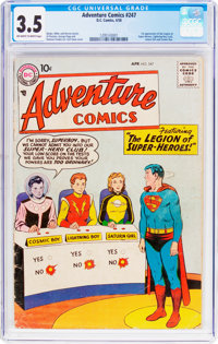 Adventure Comics #247 (DC, 1958) CGC VG- 3.5 Off-white to white pages