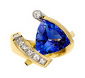 Estate Jewelry:Rings, Tanzanite, Diamond, Gold Ring . ...