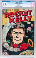 Golden Age (1938-1955):Science Fiction, Rocket Kelly #1 (Fox Features Syndicate, 1945) CGC FN+ 6.5Off-white pages....