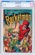 Golden Age (1938-1955):Science Fiction, Rocketman #1 (Farrell, 1952) CGC GD/VG 3.0 Off-white to whitepages....