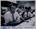Autographs:Celebrities, Charlie Duke Signed Photo as Apollo 11 CapCom with Famous ...