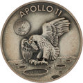 Explorers:Space Exploration, Apollo 11 Flown Silver Robbins Medallion, Serial Number 405, Originally from the Personal Collection of Mission Lunar Module P...
