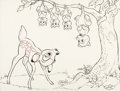 Animation Art:Production Drawing, Walt Disney Studios Bambi...