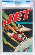 Golden Age (1938-1955):Science Fiction, Jet Powers #1 (Magazine Enterprises, 1950) CGC VG/FN 5.0 Off-whiteto white pages....
