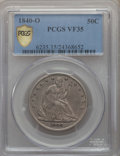 Seated Half Dollars: , 1840-O 50C VF35 PCGS Secure. PCGS Population: (39/148 and 0/3+). NGC Census: (7/104 and 0/0+). Mintage 855,100. ...