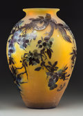 Art Glass:Galle, Large Galle Overlay Glass Vase with Berry Motif. Circa 1900. CameoGallé. Ht. 14-1/8 in.. ...