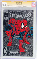 Modern Age (1980-Present):Superhero, Spider-Man #1 Silver Edition Unbagged - Signature Series (Marvel, 1990) CGC NM 9.4 White pages....