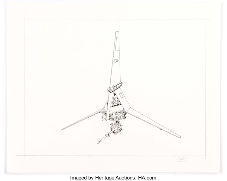 Rick Hoberg Star Wars Luke Skywalker S T 16 Skyhopper Fighter Lot 14091 Heritage Auctions Picasso's guernica in the background of the clone wars s5: comics comic art animation art heritage auctions
