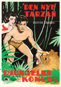 "Movie Posters:Action, King of the Jungle (Paramount, 1933). Swedish One Sheet (27.5"" X 39.5"") Eric Rohman Artwork.. ..."