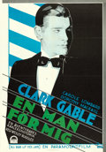 "Movie Posters:Drama, No Man of Her Own (Paramount, 1933). Swedish One Sheet (27.5"" X39.5"") Gosta Aberg Artwork.. ..."
