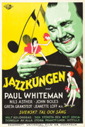 "Movie Posters:Musical, King of Jazz (Universal, 1930). Swedish One Sheet (26.5"" X 39.5"")....."