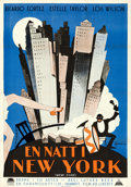 "Movie Posters:Drama, New York (Paramount, 1927). Swedish One Sheet (27.5"" X 39.25"") EricRohman Artwork.. ..."