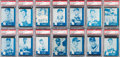 Baseball Cards:Sets, 1960 Lake to Lake Milwaukee Braves Complete Set (28) - #2 on the PSA Set Registry! ...