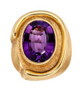 Estate Jewelry:Rings, Amethyst, Gold Ring, Burle Marx. ...