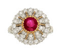 Estate Jewelry:Rings, Ruby, Diamond, Platinum, Rose Gold Ring, Buccellati . ...