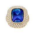 Estate Jewelry:Rings, Color-Change Sapphire, Diamond, Gold Ring, Tiffany & Co.. ...