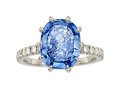 Estate Jewelry:Rings, Sapphire Intaglio, Diamond, Platinum Ring, Carvin French. ...