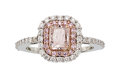 Estate Jewelry:Rings, Very Light Pink Diamond, Diamond, White Gold Ring . ...