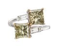 Estate Jewelry:Rings, Fancy Colored Diamond, Diamond, White Gold Ring . ...