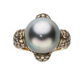 Estate Jewelry:Rings, South Sea Cultured Pearl, Colored Diamond, Gold Ring, Frank Ancona....