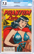 Golden Age (1938-1955):Crime, Phantom Lady #14 (Fox Features Syndicate, 1947) CGC VF- 7.5 Cream to off-white pages....