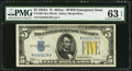 Small Size:World War II Emergency Notes, Fr. 2307 $5 1934A North Africa Silver Certificate. PMG Choice Uncirculated 63 EPQ.. ...