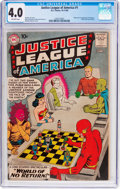 Silver Age (1956-1969):Superhero, Justice League of America #1 (DC, 1960) CGC VG 4.0 Off-white pages....