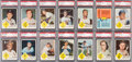 Baseball Cards:Sets, 1963 Fleer Baseball PSA-Graded NM-MT to MINT Complete Set (66) PlusChecklist. . ...