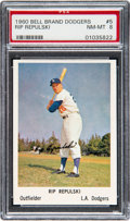 Baseball Cards:Singles (1960-1969), 1960 Bell Brand Dodgers Rip Repulski #5 PSA NM-MT 8 - Pop One, NoneHigher. ...