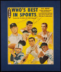 Autographs:Photos, 1959 Who's Best In Sports Multi-Signed Cover with Mantle, Unitas,Pettit, Patterson, and Gonzalez....