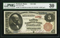 National Bank Notes:Maine, Portland, ME - $5 1882 Brown Back Fr. 467 The Casco NB Ch. # 1060. ...