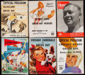 Football Collectibles:Programs, 1945-1954 Green Bay Packers Program Lot of 6. . ...