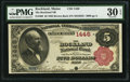 National Bank Notes:Maine, Rockland, ME - $5 1882 Brown Back Fr. 469 The Rockland NB Ch. #1446. ...