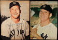 Autographs:Photos, Mickey Mantle Signed Magazine Pages.. ...