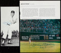 "Autographs:Photos, Mickey Mantle ""No. 7"" Signed Magazine Pages.. ..."