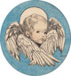 Jessie Willcox Smith (American, 1863-1935) Angel, A Child's Prayer interior book illustration, 1926 Ink and watercolor...