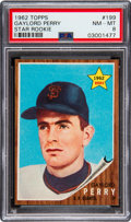 Baseball Cards:Singles (1960-1969), 1962 Topps Gaylord Perry #199 PSA NM-MT 8. The '62...