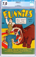 Platinum Age (1897-1937):Miscellaneous, The Funnies #11 (Dell, 1937) CGC FN/VF 7.0 Off-white pages....