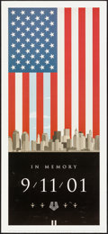 "Movie Posters:Miscellaneous, 9/11 Remembrance Poster (Griffith Phillips Creative, 2001). Poster(13.5"" X 30""). Miscellaneous.. ..."
