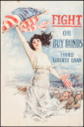 "Movie Posters:War, World War I Propaganda by Howard Chandler Christy (Forbes, 1918).Third Liberty Loan Poster (20"" X 30"") ""Fight or Buy Bonds...."