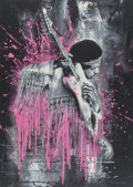 Prints & Multiples, Mr. Brainwash (French, b. 1966). Jimi Hendrix (Pink), 2015. Screenprint on hand torn archival paper. 30 x 22-1/2 inches ...