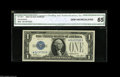 Small Size:Silver Certificates, Fr. 1601* $1 1928A Silver Certificate. CGA Gem Uncirculated 65. A nicely centered example of this popular star....