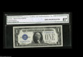 Small Size:Silver Certificates, Fr. 1605 $1 1928E Silver Certificate. CGA Gem Uncirculated 67. A lovely example of this key to the series from the collecti...