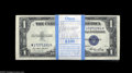 Small Size:Silver Certificates, Fr. 1614 $1 1935E Silver Certificates. Original pack of 100. Choice-Gem Choice Crisp Uncirculated. A fresh and appealing pa... (100 notes)