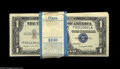 Small Size:Silver Certificates, Fr. 1620 $1 1957A Silver Certificates. Original Pack of 100. Crisp Uncirculated. A few notes on top show handling, while th... (100 notes)