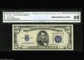 Small Size:Silver Certificates, Fr. 1653 $5 1934C Silver Certificate. CGA Gem Uncirculated 69. A common note in a most uncommon grade, as this is the fines...