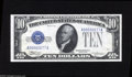 Small Size:Silver Certificates, Fr. 1700 $10 1933 Silver Certificate. Gem Crisp Uncirculated. This piece, from the New England Changeover collection, was o...