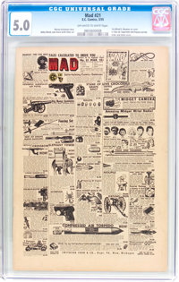MAD #21 (EC, 1955) CGC VG/FN 5.0 Off-white to white pages