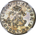 French Colonies: Louis XV 2 Sols (Sous Marqué) 1741-S MS62 NGC