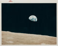 "Explorers:Space Exploration, Apollo 8 ""Earthrise"" Original NASA ""Red Number"" Color Photo, AS8-14-2383...."